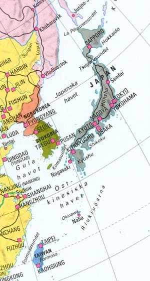 Japan och Okinawa, resans mål.