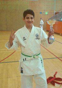 David Haroun, nöjd segrare i Kata Pojkar 14 år.